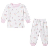 Kissy Kissy Candy Castle Print Pajamas White WH