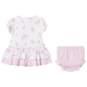 Image of Kissy Kissy Candy Castle Print Dress and Knickers White 3-6 months (3001922177)