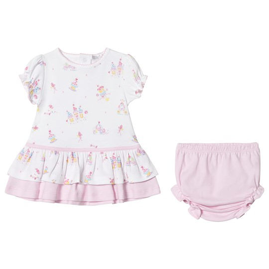 Kissy Kissy Candy Castle Print Dress and Knickers White PK