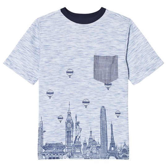 Andy & Evan Skyline T-shirt Blue LBL