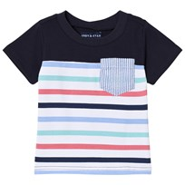 Andy & Evan Stripe T-shirt with Pocket Multicolored NVG