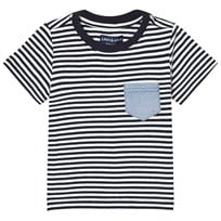 Andy & Evan Striped T-shirt with Pocket Navy and White NVH