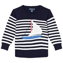 Andy & Evan Striped Sailboat Jumper Navy NVP