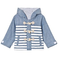 Andy & Evan Reversible Striped Toggle Parka Blue BLE
