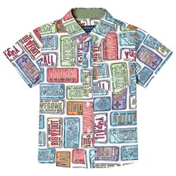 Andy & Evan License Plate Print Shirt Multicoloured