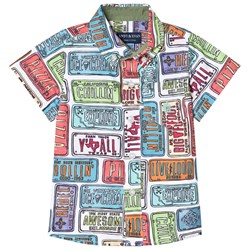 Andy & Evan License Plate Print Shirt Multicolored
