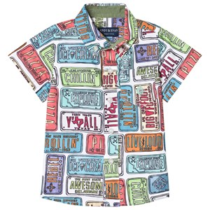 Image of Andy & Evan License Plate Print Shirt Multicolored 9-12 months (3001924413)
