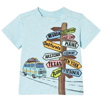 Andy & Evan Road Signs T-shirt Blue AQF