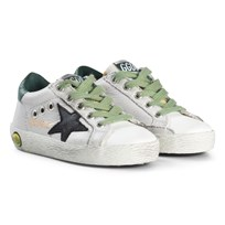 Golden Goose White Leather and Black Star Superstar Trainers ICE LEATHER-BLACK STAR