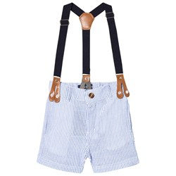 Andy & Evan Short Suspenders with Navy Strap Blue