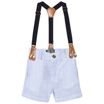 Andy & Evan Short Suspenders with Navy Strap Blue LBC