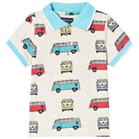 Andy & Evan Vintage Van Print Polo Shirt Gray GYV