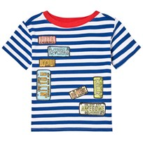 Andy & Evan Striped License Plate T-shirt Blue BLH