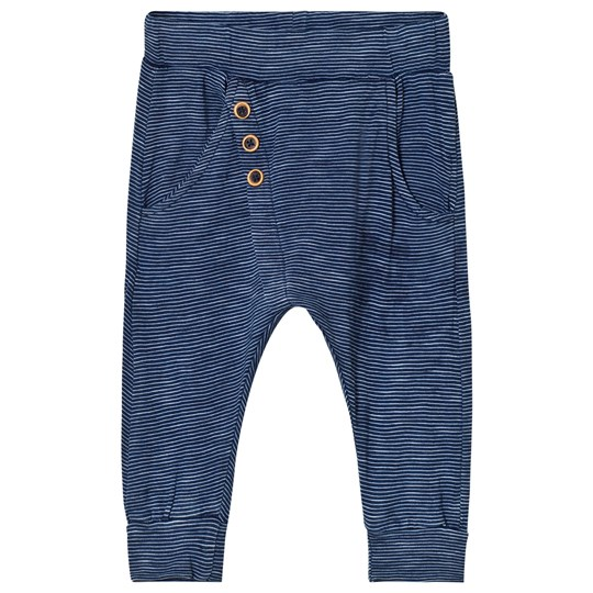 Hust&Claire Stripe Button Baby Leggings Blue Blue indie