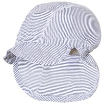 Hust&Claire Stripe Sunhat Blue and White Blue indie