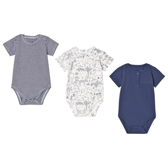 Hust&Claire et of 3 Baby Bodies Navy and White Sugar