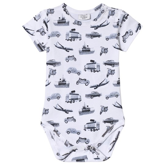 Hust&Claire Transport Print Baby Body White White