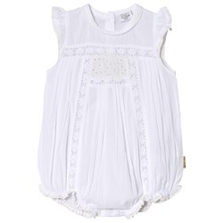 Hust&Claire Lace Baby Romper White