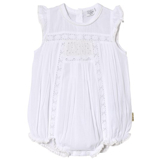 Hust&Claire Lace Baby Romper Vit White