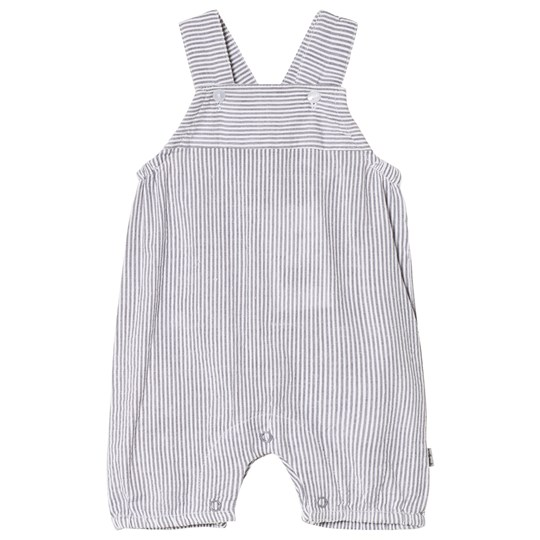 Hust&Claire Stripe Baby Overalls Shadow Gray Shadow