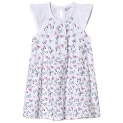 Hust&Claire Butterfly Print Dress White