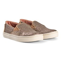 Toms Gold Iridescent Glimmer Luca Youth TOMS Slip-Ons Gold