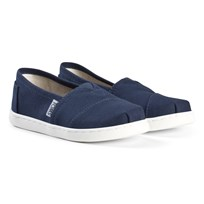 Toms Navy Canvas Youth Classics Marinblå