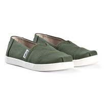 Toms Pine Canvas Youth Classics Green