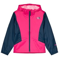 The North Face Pink and Navy Zipline Waterproof Rain Jacket 2KR