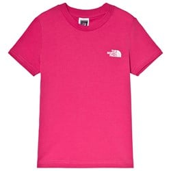 The North Face Pink Simple Dome Logo Tee