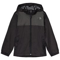 The North Face Black and Grey Zipline Waterproof Rain Jacket JK3