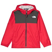 The North Face Red and Grey Zipline Waterproof Rain Jacket 610
