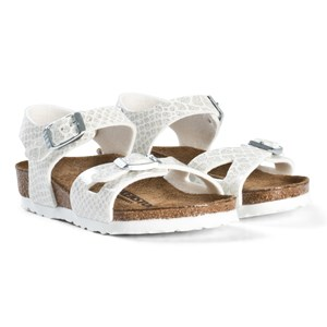 Image of Birkenstock Rio Magic Snake White Sandals 26 EU (3001922899)
