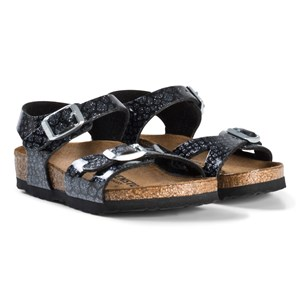 Image of Birkenstock Rio Magic Snake Black Sandals 24 EU (3008598025)