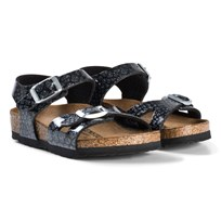 Birkenstock Rio Magic Snake Black Sandals Magic Snake Black