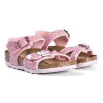 Birkenstock Rio Magic Snake Pink Sandals Magic Snake Rose
