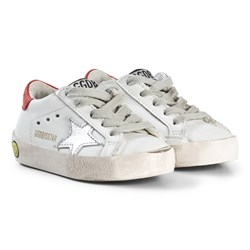 Golden Goose White Leather Superstar Metallic Star Trainers