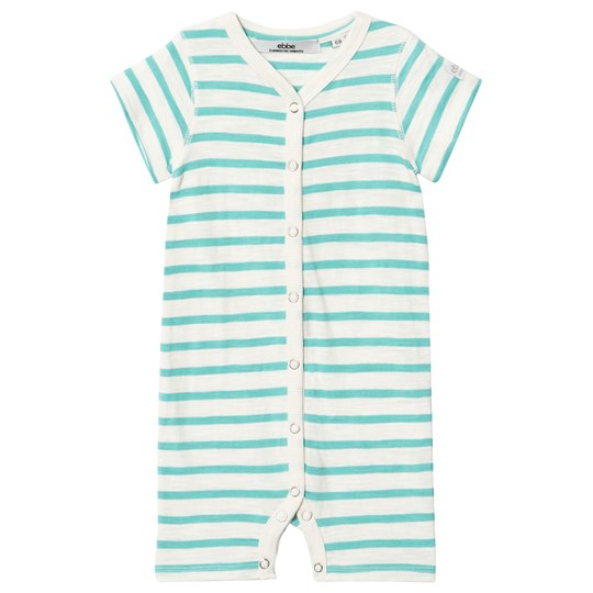 ebbe Kids Lemon Beach Romper Off White/Turquoise Offwhite/blue turquoise