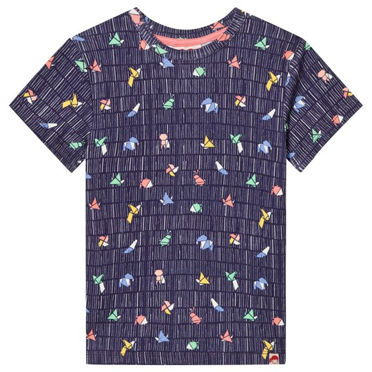 Tootsa MacGinty Multicolored Print T-Shirt In Navy Marinblå