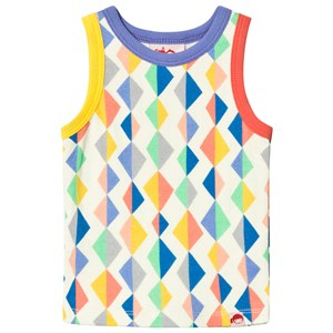 Image of Tootsa MacGinty Multicolored Kite Patterned Vest Top In White 0-6 months (3001927425)