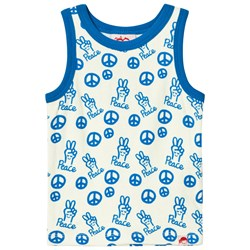 Tootsa MacGinty Peace Sign Vest Top In Blue
