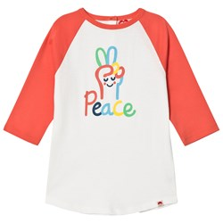 Tootsa MacGinty Peace Long Sleeve Tee In Coral
