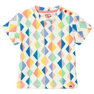 Image of Tootsa MacGinty Multicolored Kite Print Tee In White 0-6 months (3001924357)