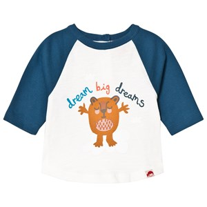Image of Tootsa MacGinty Dream Big Dreams Slogan Long Sleeved Tee In Blue 0-6 months (3001922415)