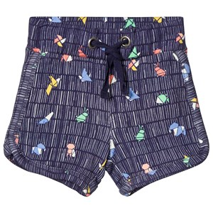Image of Tootsa MacGinty Multicolored Print Jersey Shorts In Navy 12-18 months (3014545001)