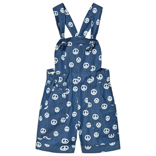 Tootsa MacGinty Peace Sign Shorts With Removable Strap Top In Blue Ink Blue