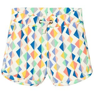 Image of Tootsa MacGinty Multicolored Diamond Print Jersey Shorts In White 0-6 months (3014544719)