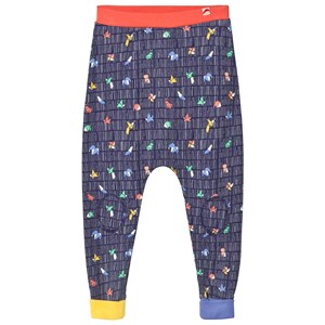 Image of Tootsa MacGinty Multicolored Print Harem Pants In Navy 0-6 months (3065507613)