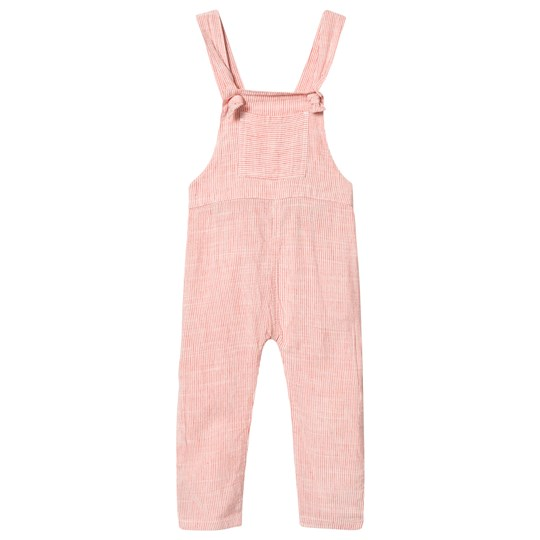 Tootsa MacGinty Coral Striped Overalls Coral