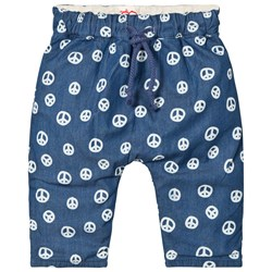 Tootsa MacGinty Peace Sign Reversible Trousers In Blue